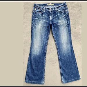 "Big Star ""Maddie"" Distressed Bootcut Blue Jeans"